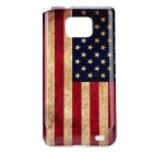 Retro U.S. National Flag Pattern Protective PC Back Case for Samsung Galaxy S II i9100 - Red + More