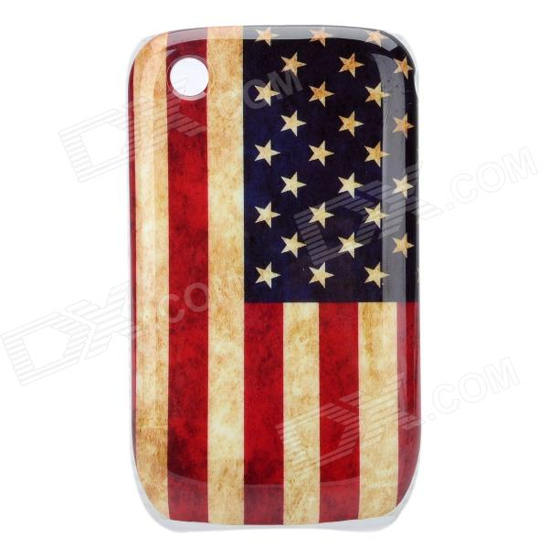 Worn Look U.S. National Flag Pattern ABS Back Case for Blackberry 8520 / 8530 - Blue + Red + Yellow - DXPlastic Cases<br>Material Plastic Color Red + black + yellow Qty 1 Compatible Model Blackberry 8520 / 8530 Features Protects your device from scratches shock and dust Packing List 1 x Case<br>