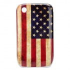 Worn Look U.S. National Flag Pattern ABS Back Case for Blackberry 8520 / 8530 - Blue + Red + Yellow