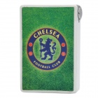 FC Football Club Chelsea Logo Butane Lighter with Mirror Back - Green + White + Silver