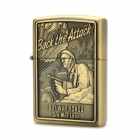 Cool US Paratrooper Pattern Fuel Lighter - Copper