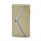 Elegant Women's Wallet Style Butane Lighter - Golden