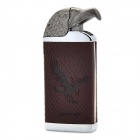 Eagle Head Style Butane Lighter - Brown + Dark Silver