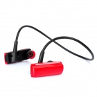 Rechargeable Sports MP3 Player Headphone Headset with FM / TF Slot - Red + Black