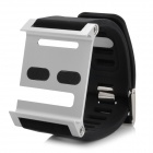 LunaTik Watch Band Case with Screen Protector Film for iPod Nano 6 - Silver + Black