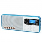 "Rechargeable 1.0"" LCD Music Speaker MP3 Player with FM / TF Slot - Blue + White"