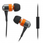 Stylish In-Ear Earphone with Microphone for iPhone / iPod - Orange + Black