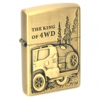 The King of 4WD Pattern Style Kerosene Oil Lighter - Golden