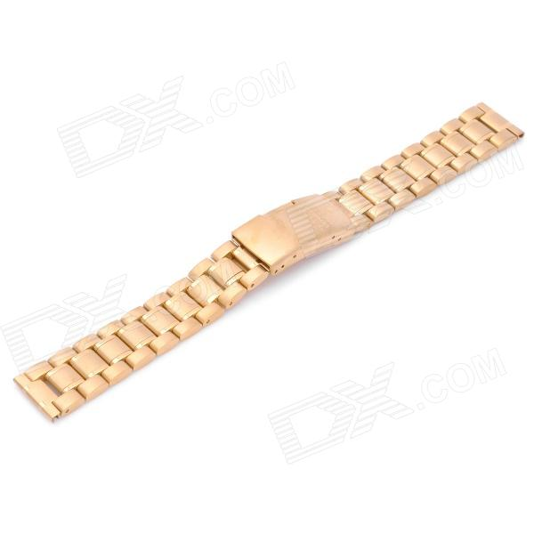 Replacement QG-010 Stylish Steel Wrist Watch Band - Golden