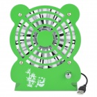 Mini Panda Style USB Powered Adjustable Wind Speed 9-Blade Cooling Fan - Green