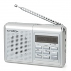 "Rechargeable 1.4"" LCD Music Speaker MP3 Player with FM / TF Slot - Silver"