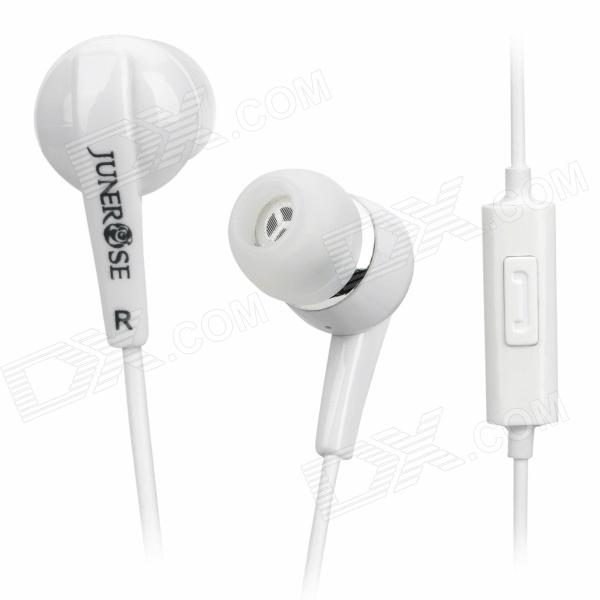 Trendy In-Ear Earphone w/ Microphone for Iphone 4 / 4S - White (3.5mm Jack / 138cm-Length) 3 5mm jack in ear earphone w microphone for iphone 4 4s ipad samsung more black white