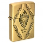 Cool Darkness Flame Pattern Kerosene Oil Lighter - Golden