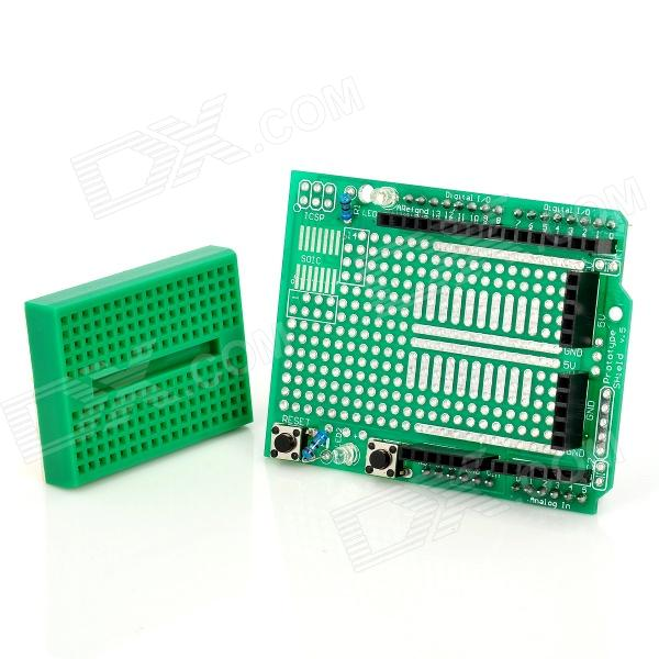 Prototype Expansion Board with Mini Breadboard for Arduino (Works with Official Arduino Boards) ef tooth expansion board for arduino works with official arduino boards