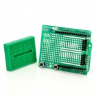 Arduino Compatible Prototype Expansion Board with Mini Breadboard - Green
