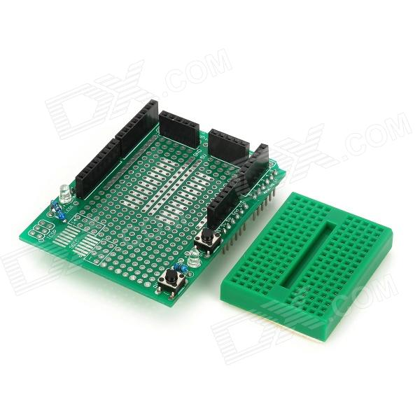 Prototype expansion board with mini breadboard for arduino
