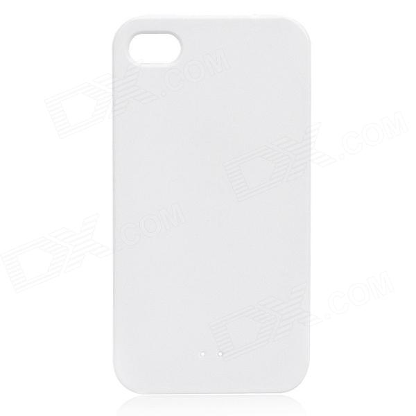 Stylish Protective Case w/ Touch Cover for Iphone 4 / 4S - White stylish protective tpu full body case w anti dust cover for iphone 5 white