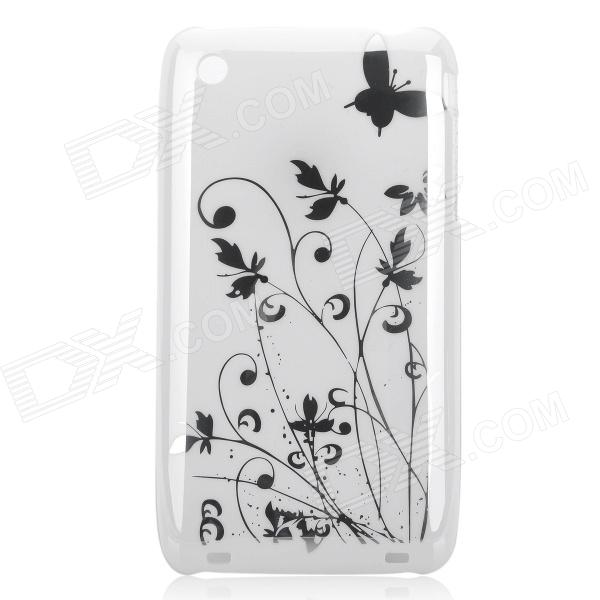 Iris Pattern Protective Plastic Back Case for Iphone 3g - White iris pattern protective plastic back case for iphone 3g white