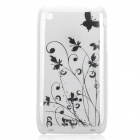 Iris Pattern Protective Plastic Back Case for iPhone 3G - White