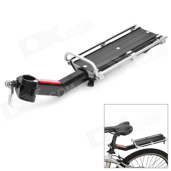 Mountain Road Bike Bicycle Aluminum Alloy Quick Release Rear Back Luggage Rack - Black + Silver two up tour pak pack mounting rack for harley touring street electra glide road king flht flhrc flhr flhx 2009 2013 new