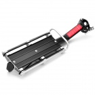 Mountain Road Bike Bicycle Aluminum Alloy Quick Release Rear Back Luggage Rack - Black + Silver