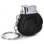 Mini Box Glove Style Butane Lighter w/ Keychain / Mirror / Bottle Opener - Black