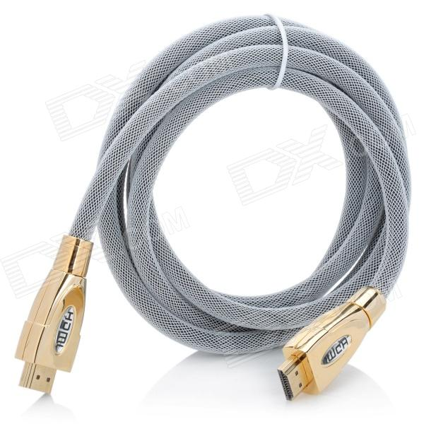 Gold Plated 3D 1080P HDMI 1.4 Male to Male Net Connection Cable - White (180cm) диски helo he844 chrome plated r20