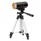 Rechargeable 7200mAh Blue & White Light Source Fishing Light with Tripod Stand - Black + Orange