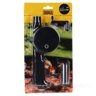Hand-crank BBQ Barbecue Fan Air Blower - Black