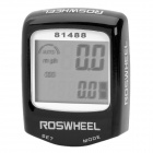 14-Function Waterproof Wired Bike Computer Odometer Speedometer - Black