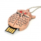 Owl Style USB 2.0 Flash Drive - Copper (16GB)