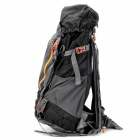 55L Outdoor Mountaineering Camping Cycling Backpack with Rainproof Cover - Black + Grey