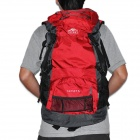 Topsky Camping Travelling Nylon 2-Shoulder Backpack - Black + Red (34cm x 58cm x 20cm)