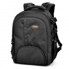 TONBA Nylon Water Resistant Camera Double-Shoulder Bag - Black (36 x 27 x 14cm)