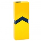 Geometrical Line Design Square Butane Lighter - Yellow + Black