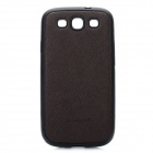 KALAIDENG Protective Fiber + Silicone Case for Samsung Galaxy S3 i9300 - Brown