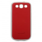 KALAIDENG Fashion Cross Pattern Protective Silicone Back case for Samsung Galaxy S 3 i9300 - Red