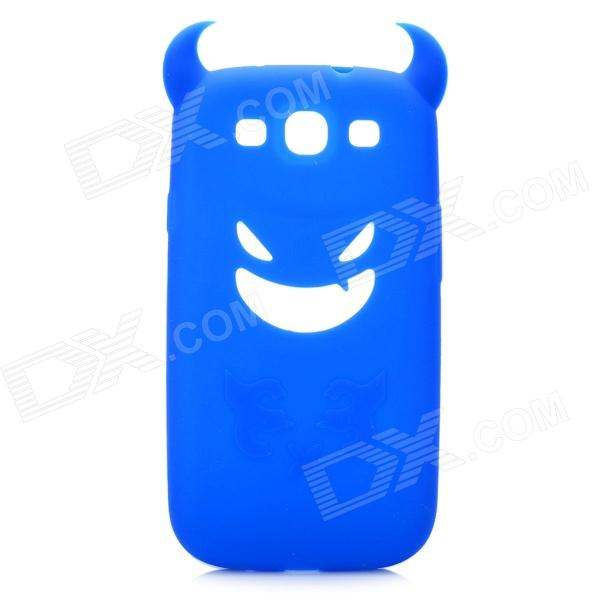 Creative Devil Style Protective Soft Silicone Case for Samsung Galaxy S3 i9300 - Blue