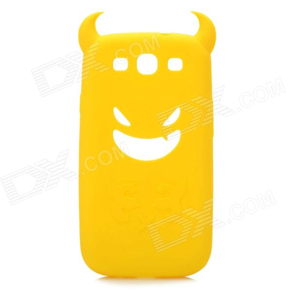Creative Devil Style Protective Soft Silicone Case for Samsung Galaxy S3 i9300 - Yellow