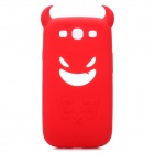 Creative Devil Style Protective Soft Silicone Case for Samsung Galaxy S3 i9300 - Red