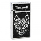 Cool Wolf Head Pattern Butane Gas Lighter - Black + Silver