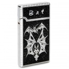 Cool Bat Pattern Butane Jet Lighter - Silver + Black