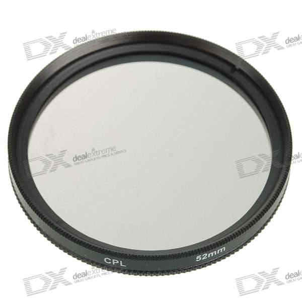 CPL Polarizer Lens Filter - Black (52mm)