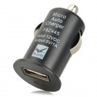 Mini USB 2.0 Car Cigarette Lighter Power Adapter for Digital Devices - Black (12V)