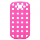 Weave Pattern Hollow Out Soft Silicone Case for Samsung Galaxy S3 i9300 - Deep Pink