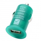 Mini USB 2.0 Car Cigarette Lighter Power Adapter for Digital Devices - Green (12V)