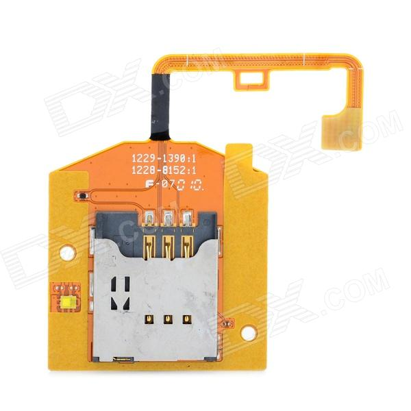 Replacement SIM Card Socket Holder Flex Cable for Sony Ericsson X10mini replacement sd card slot holder flex cable ribbon for nintendo dsi golden silver