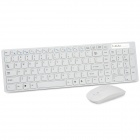 Ultra-Thin 2.4GHz USB Wireless 104-Key Keyboard & 800 / 1600DPI Mouse Combo Kit - White