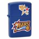 NBA Philadelphia 76ers Logo Pattern Kerosene Oil Lighter - Blue