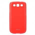 Rock Protective PC Plastic Case for Samsung Galaxy S3 i9300 - Red
